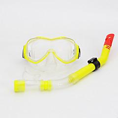 Máscaras de mergulho Kits para Snorkeling Snorkels Kit para Snorkel Anti-Nevoeiro Ajustável Mergulho e Snorkeling PVC Silicone