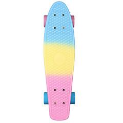 PP (폴리프로필렌) 크루저 스케이트 보드 무지개 22인치 전문적인 Abec-7