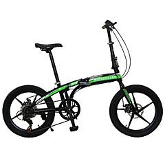 Folding Bike Cycling 7 Speed 20 Inch Unisex Adult SHIMANO TX30 Double Disc Brake Springer Fork Monocoque Ordinary/Standard Anti-slip