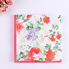 100% virgin pulp 20pcs  Flower Wedding Napkins