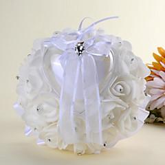 Hvid 1 Bånd Krystal Satin