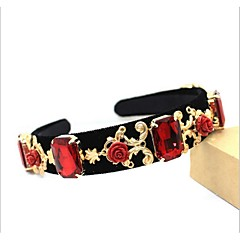 Women's Alloy Headpiece-Wedding Headbands 1 Piece Red Flower / Rectangle