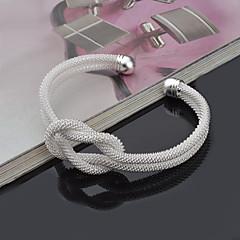 Dames Bangles Cuff armbanden Punk-stijl Verstelbaar Aanbiddelijk Inspirerend Sterling zilver Ronde vorm Zilver Sieraden VoorBruiloft