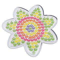 1pcs modèle fleur de panneau perforé clair pour perles hama 5mm Perler perles perles fusibles