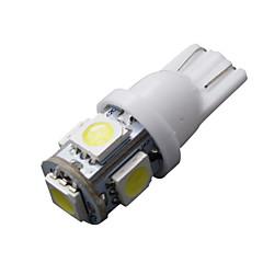 10 יח 'T10 SMD w5w 5 לבן 168 194 501 הוביל 12v טריז צד המכונית מנורת אור DC הנורה