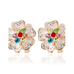 1pair/Multicolor/FlowerStud Earrings forWomen