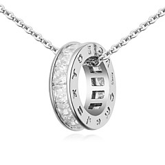 Necklace Pendant Necklaces Jewelry Party / Daily / Casual Fashion Alloy / Rhinestone Gold 1pc Gift