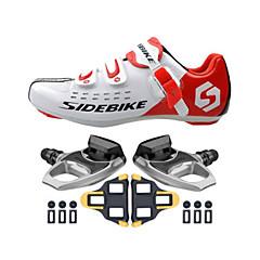 BOODUN/SIDEBIKE® joggesko Veisykkelsko Sykkelsko Sykkelsko med pedal og tåjern Unisex Demping Vei Sykkel ånd bare Blanding PU EVA Sykling