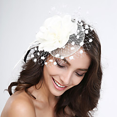Ženy Peří / Tyl / Síť Přílba-Svatba / Zvláštní příležitost Ozdoby do vlasů Jeden díl