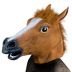 Halloween-Masken Tiermaske Pferdekopf Urlaubszubehör Weihnachten