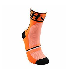 Sportief Fietsen/Wielrennen Sokken/Fietssokken Unisex Mouwloos Ademend / Zweetafvoerend Katoen Flora / Botanisch Oranje Gratis Grootte