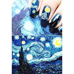 Starry Nacht Van Gogh Make-up romantische Nagelkunst Nagelaufkleber hohe quailty Werkzeuge Nagel Gel Abziehbilder Französisch Maniküre