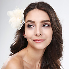 Women's Tulle / Fabric / Net Headpiece-Wedding / Special Occasion / Casual Flowers 1 Piece