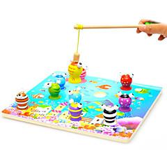 Holz Kinder 3d magnetische Stereo Angeln Spielzeug-Set Baby-Puzzle Spielzeug