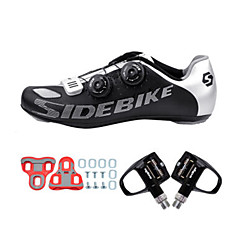 BOODUN/SIDEBIKE® Tênis Tênis para Ciclismo Sapatilhas de Ciclismo com Travas & Pedal Unisexo Almofadado Bicicleta de EstradaMalha
