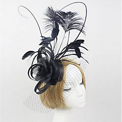 Vrouwen Kant Veren Tule Stof Net Helm-Bruiloft Speciale gelegenheden Buiten Hoofdbanden Fascinators 1 Stuk