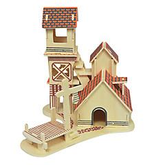 Puzzle 3D puzzle Dřevěné puzzle Stavební bloky DIY hračky Dům Dřevo