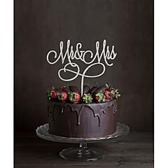 קישוטים לעוגה לא מותאם אישית חתימה אקרילי חתונה פרחים שחור נושא קלאסי 1 קופסת מתנה