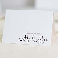 Não personalizado Dobrado no Topo Convites de casamentoAmostra de convite / Cartões de Aniversário / Convites para Festas de Noivado /