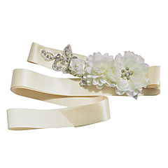 Satijn Huwelijk / Feest/Uitgaan / Dagelijks gebruik Sjerp-Sierstenen / Bloemen / Strass Dames 98 ½ In (250Cm)Sierstenen / Bloemen /