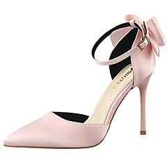 Feminino-Saltos-Conforto Sapatos clube Light Up Shoes-Salto Agulha-Preto Rosa Vermelho Cinza Dourado Vinho-Couro-Social Festas & Noite