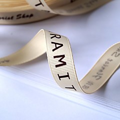 Personalized Grosgrain Wedding Ribbon - 100 Yards Per Roll   (More Colors, More Width)