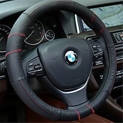 черная красная линия с GM кожаный чехол рулевого колеса