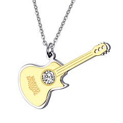 Men's Pendant Necklaces Jewelry Party/Birthday/Daily/Casual Rhinestone Gold Plated Stainless Steel Golden 1pc  Christmas Gifts
