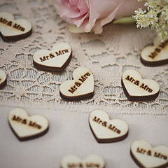 Wood Eco-friendly Material Wedding Decorations-50Piece/Set Spring Summer Fall Winter Non-personalized