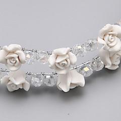 נשים / נערת פרחים סגסוגת / שרף כיסוי ראש-חתונה / אירוע מיוחד פרחים