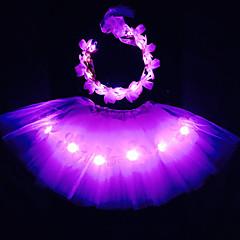 pinky angel led syttyy balettihame&sanka asetettu kidsgirlsadultshalloween coustumechristmas giftrave balettihame setcoachella