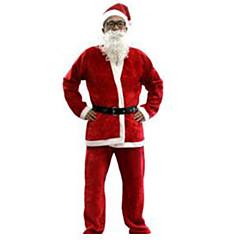 Fesztivál/ünnepek Mindszentek napi kösztümök Piros Egyszínű Felső / Nadrágok / Öv / Kalapok Karácsony Férfi Pleuche
