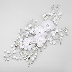 Women's Rhinestone / Imitation Pearl / Chiffon Headpiece-Wedding / Special Occasion Flowers 1 Piece