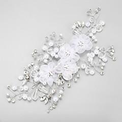Dame Rhinestone / Imitert Perle / Chiffon Headpiece-Bryllup / Spesiell Leilighet Blomster 1 Deler
