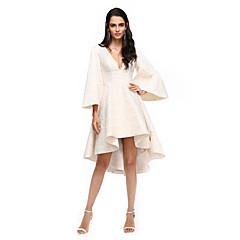 2017 ts couture® cocktail party dress a-lijn v-hals asymmetrische kant met