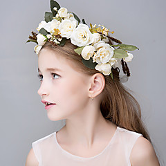 Women's Polyester Foam Flax Resin Fabric Headpiece-Wedding Special Occasion Casual Office & Career OutdoorTiaras Headbands Flowers