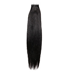 20PCS Tape In Hair Extensions Natural Black  40g 16Inch 20Inch 100% Human Hair For Women