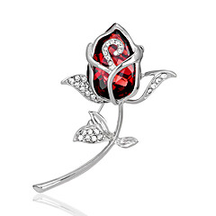 Women's Fashion Alloy/Rhinestone/Crystal Rose Flower Brooches Pin Party/Daily/Wedding Jewelry Accessory 1pc