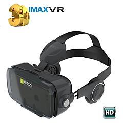 svart vr 3d glasse integrert øretelefon virtuell virkelighet headset bobo vr for 4/7 til 6/2 tommers smarttelefon