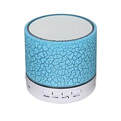 Wireless Bluetooth Speakers LED Metal Steel Mini Portable Speaker Smart Hands Free Speaker With FM Radio Support SD Card
