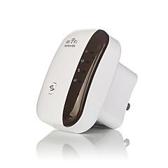 sem fios repetidor de sinal amplificador 802.11n reforços de sinal / b / g Wi-Fi gama extensor 300mbps repetidor WPS-nos wi-fi