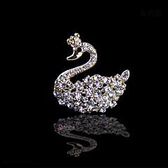 kleiner Schwan Braut Hochzeit Diamantkristall Brosche