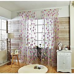 Ein Panel Window Treatment Rustikal , Blume Wohnzimmer Leinen-Polyestergewebe Stoff Gardinen Shades Haus Dekoration For Fenster