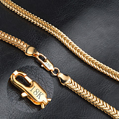 Men's Women's Chain Necklaces Gold Fashion Jewelry For Wedding Party Daily Casual Christmas Gifts 1pc