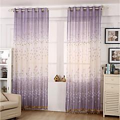 Ein Panel Window Treatment Modern , Blume Kinderzimmer Poly /  Baumwollmischung Stoff Gardinen Shades Haus Dekoration For Fenster
