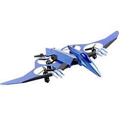 רחפן JDTOYS 511V 4CH 6 ציר 2.4G עם מצלמה RC Quadcopter תאורת לד עם מצלמה RC Quadcopter שלט רחוק כסוף כחול