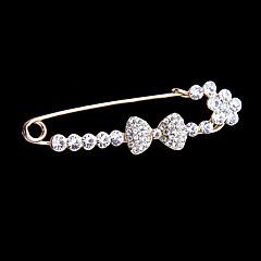 Wedding Style Elegant Silver Plated Rhinestone Brooch