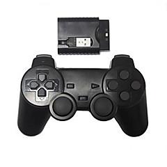 Nowy bezprzewodowy kontroler szok gra dla bezprzewodowego kontrolera PS2 / PS3 / PC (2.4GHz / czarny)