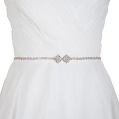Satin Wedding Party/ Evening Dailywear Sash-Rhinestone Women's 98 ½in(250cm) Rhinestone