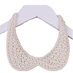 Women's Collar Necklace Pearl Circle Jewelry Pearl Fabric Handmade Elegant Jewelry For Wedding Party Birthday Daily 1pc